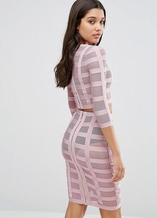 Розпродаж !!!  сетчатый бандажный комплект wow couture co-ord3