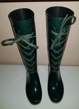 Ультрамодные стильные резиновые сапоги yves saint laurent, оригинал, италия3