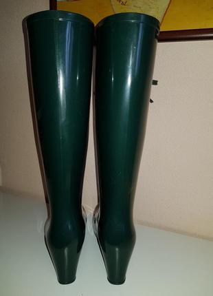 Ультрамодные стильные резиновые сапоги yves saint laurent, оригинал, италия4