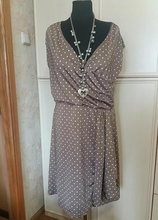 Изумительное платье в горохи bodyflirt р.52-54много вещей больших размеров