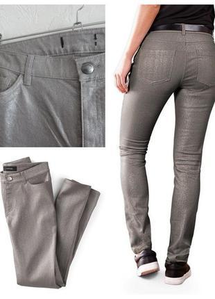 Модные джинсы, штаны с блестящим покрытием tcm tchibo(германия) 50-52р, смотрите замеры