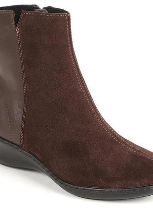 Элегантные ботинки inblu. замша + кожа. распродажа.