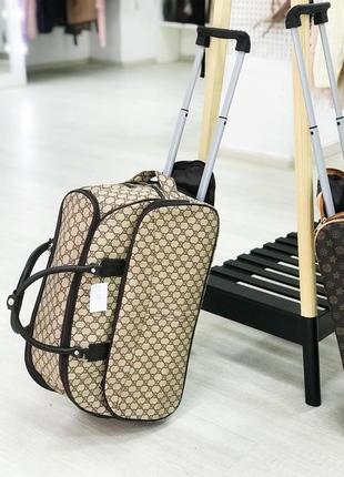 Супер цена! качественная сумка на колесах дорожная сумка для ручной клади эко кожа