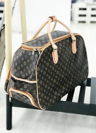 Супер цена! сумка на колесах дорожная сумка для ручной клади из эко кожи