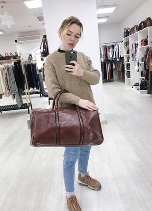 🔥эксклюзив! бордовая богатая сумка дорожная из эко кожи ручная кладь дорожня сумка