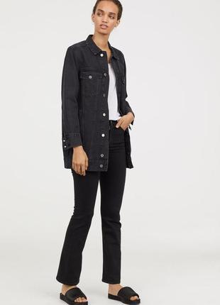 Стильные джинсы клеш с высокой талией 26-29р оригинал h&m