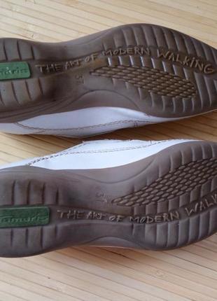 Кожанные белые туфли tomaris4