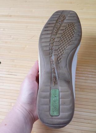 Кожанные белые туфли tomaris5