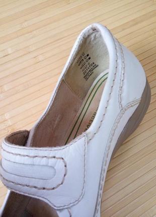 Кожанные белые туфли tomaris6