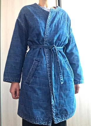 Тренч кимоно джинсовый