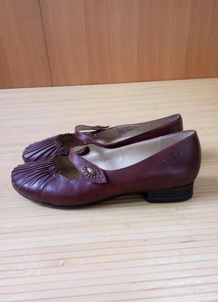 Кожаные туфли caprice walking on air2