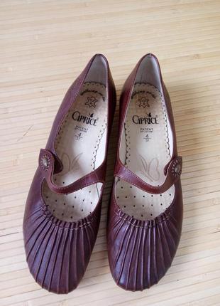 Кожаные туфли caprice walking on air3