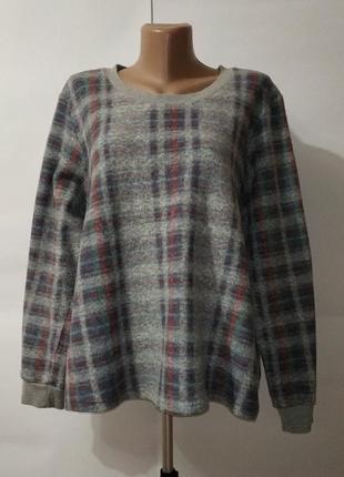 Серный свитер кофта модную клетку marks&spencer. uk 20 / 48 / xxxl