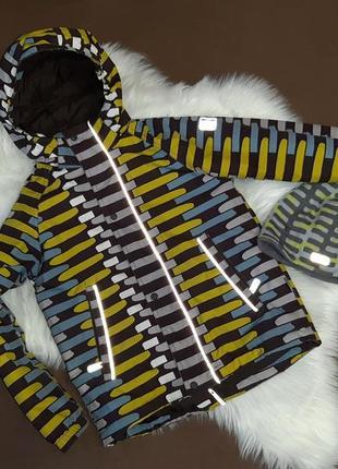 Яркая и стильная куртка и шапка_reima tec_122/128