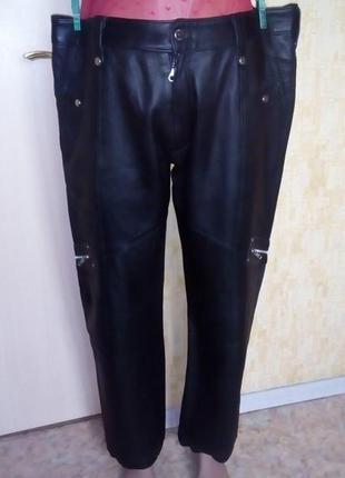 Отличные брючки из 100 % мягкой  кожи /кожаные брюки/кожаные брюки/брюки.штаны