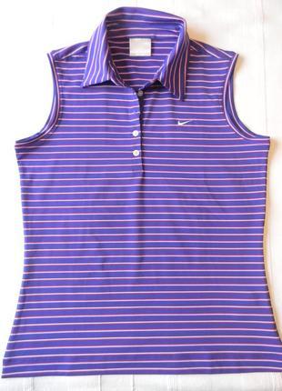Жен.спорт.футболка майка  поло nike golf  dri fit р.м