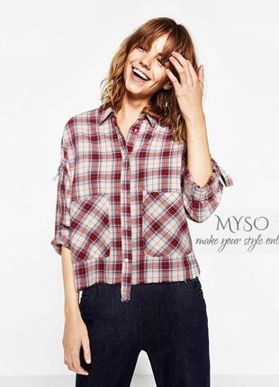 Zara premium очень стильная рубашка oversize