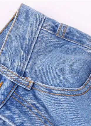 Женские mom мом джинсы с высокой посадкой талией7
