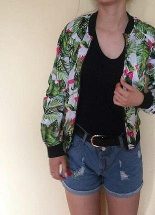Куртка бомбер в гавайському стилі розмір 40\42