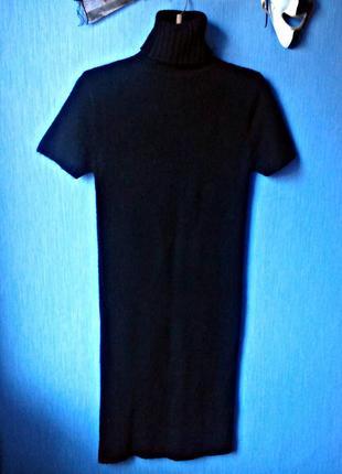 Трикотажное вязаное платье - чулок. размер 44 - 48.