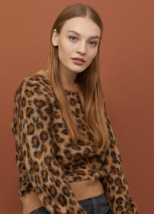 Супер модный джемпер в леопардовый принт от h&m