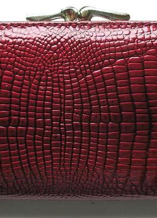 Большой кожаный лаковый кошелек bordo, 100% натуральная кожа, есть доставка бесплатно3 фото