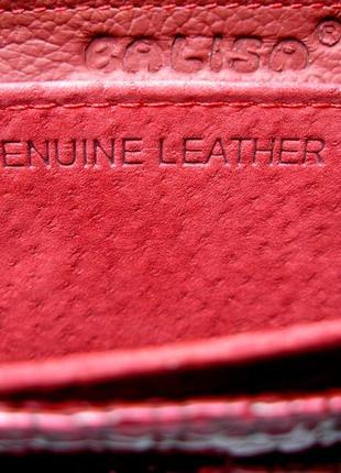 Большой кожаный лаковый кошелек bordo, 100% натуральная кожа, есть доставка бесплатно7 фото