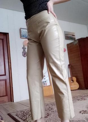 Хит сезона! штаны кожаные кожа лосины легинсы брюки