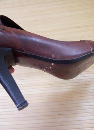 Кожаные туфли с заклёпками lea fascatty6 фото