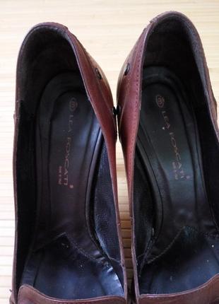 Кожаные туфли с заклёпками lea fascatty7 фото