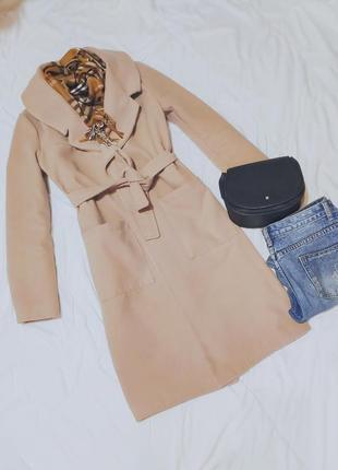 Пальто, кашемировое пальто, бежевое пальто, демисезонное пальто.
