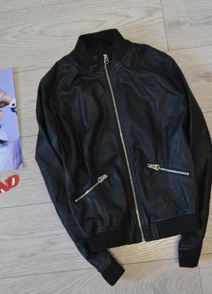 Стильная куртка косуха бомбер