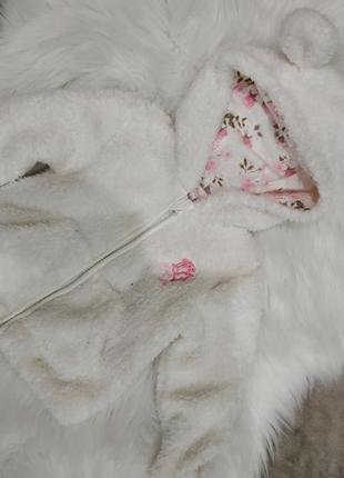 Теплая кофта  куртка на 0-3 м