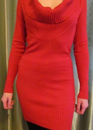 Классное красное платье (мини)+ремень в подарок!