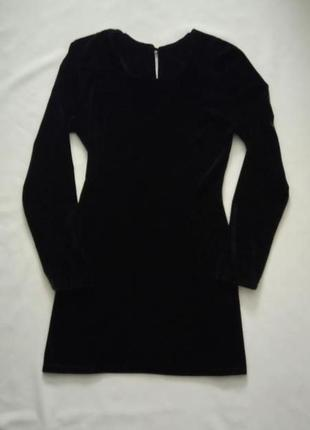 Облегающее бархатное платье стрейч с длинным рукавом размер xs-s