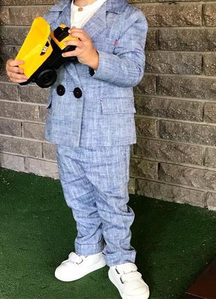 Детский класический костюм лен 2 года