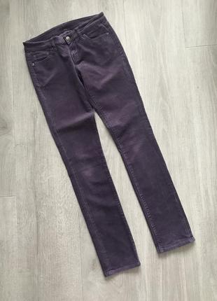 Вельветовые джинсы скинни skinny uniqlo