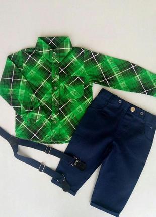 Нарядный костюм для мальчика зеленый