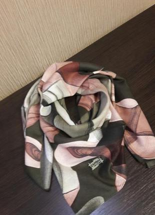 💖шерстяной турецкий платок хаки пудра