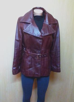 Шикарная кожаная куртка,жакет,пиджак.44-46р.от бренда maria kurki.1 фото