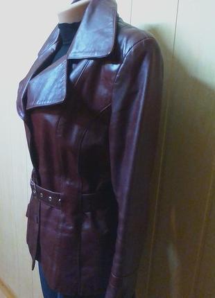 Шикарная кожаная куртка,жакет,пиджак.44-46р.от бренда maria kurki.5 фото