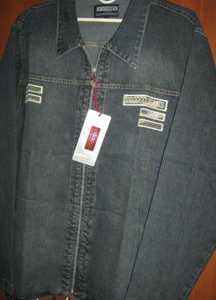 Новая джинсовая куртка мужская рубашка с длинным рукавом р м