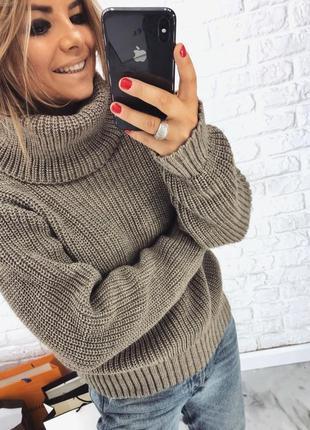 Шикарный новый теплый бежевый шерстяной свитер(кофта) овэрсайз xs,s,m,l