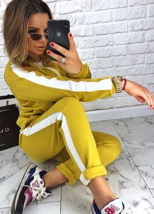 Шикарный новый желтый брючный костюм(кофта+брюки) xs,s,m,l1
