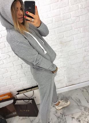 Шикарный новый серый брючный костюм(свитшот+брюки) xs,s,m,l2