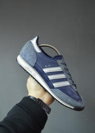 Крутые кожаные кроссовки adidas sl72
