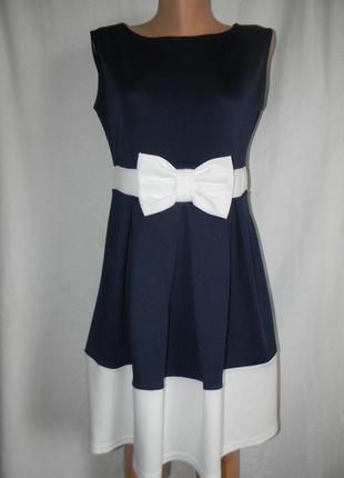 Новое элегантное платье с бантом