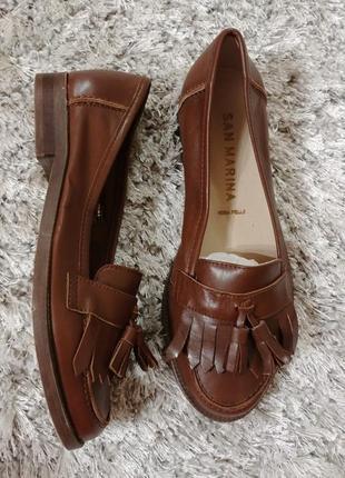 Туфлі-лофери san marina нат. шкіра р.36.