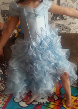 Выпускное бальное платье кармен, 104-116, от 3 до 7 лет
