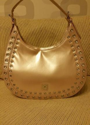 Gferre, сумка нежно розового цвета, не кожа